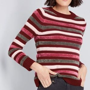Modcloth Duly Noticed Chenille Sweater